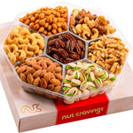 Red Box Gourmet Nut Sectional Gift Tray Box Large