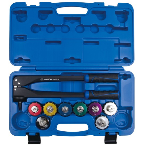 Garage & Tool Supplies Automotive Specialized Tools 7CA0309S - King Tony Tube Expander Set 9Pc
