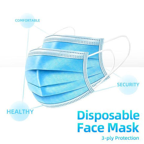 Garage & Tool Supplies CONSUMABLE GT-3PD- 3 Ply Disposable Face Mask