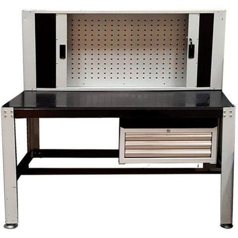 Garage & Tool Supplies Garage Equipment GT-JTCT - JTC Workbench With Roll-Door Cabinets And Drawers