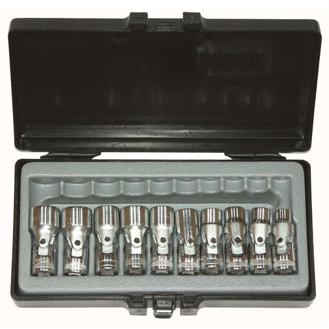 Garage & Tool Supplies Hand tools FO-3105 - Force 3/8'' 10 Pc Universal Joint Socket Set 10-19mm