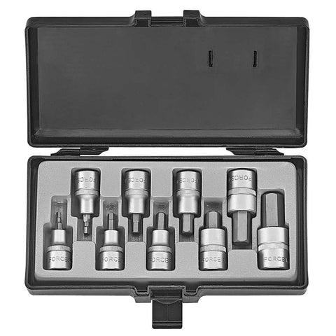 "Garage & Tool Supplies Hand tools FO-4101 - Force 1/2"" Socket Hex Bit Set"