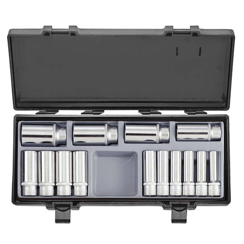 Garage & Tool Supplies Hand tools FO-4143-9 - Force Chrome Deep Socket Set 3/8''