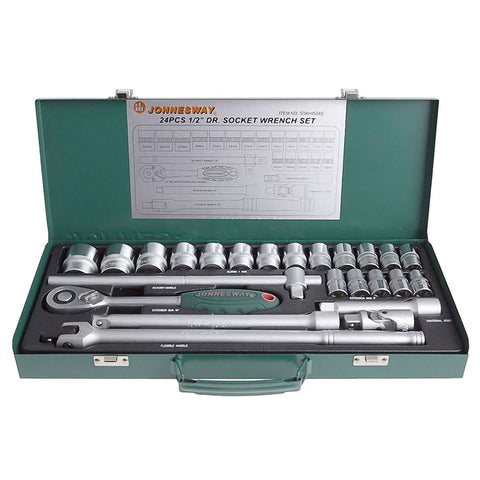 GTS Socket wrench set GT-JOT668 -Jonnesway - 1/2 Inch Drive Socket Wrench Set - Set 24 pcs