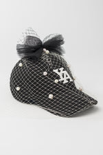 Black and Pearls baseball cap