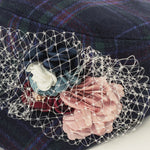 Blossom in Tartan military cap