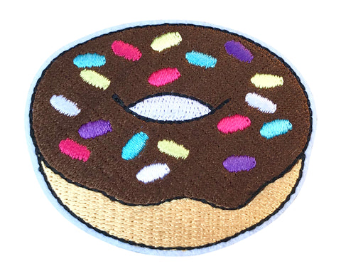 CHOCOLATE DONUT 2.5 INCH FUN PATCH