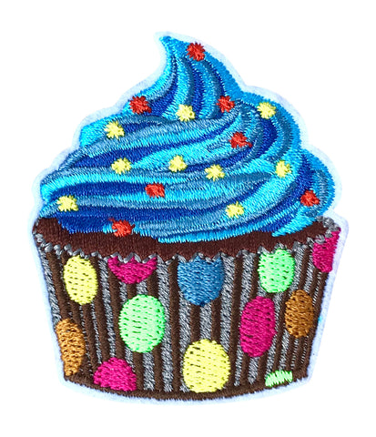 BLUE CUPPY CAKE 2.5 INCH FUN PATCH
