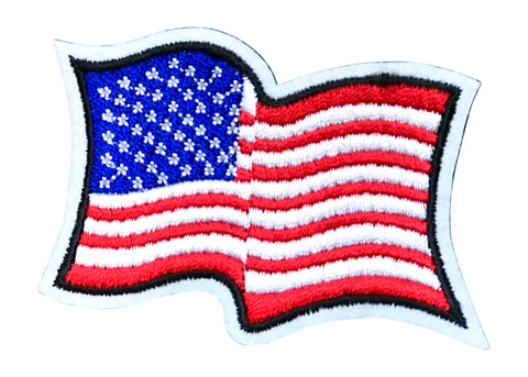 AMERICAN FLAG 2.5 INCH FUN PATCH