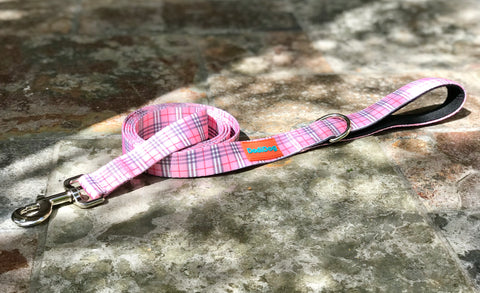 "NEW RELEASE! ""BESPOKE BRIT (PINK)"" Lightweight (6 foot) Leash"