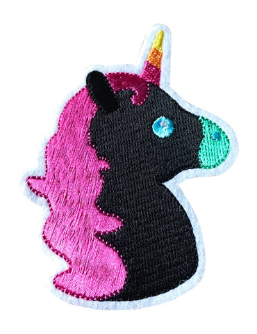 "New! BLACK ""BEAUTY"" UNICORN 2.5 INCH FUN PATCH"