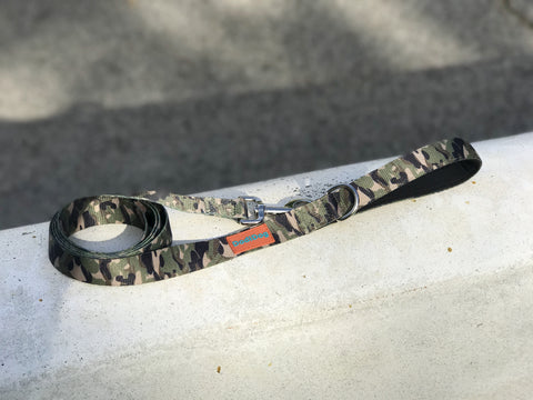 """COMMANDO CAMO"" Lightweight (6 foot) Leash"