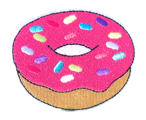 PINK DONUT 2.5 INCH FUN PATCH