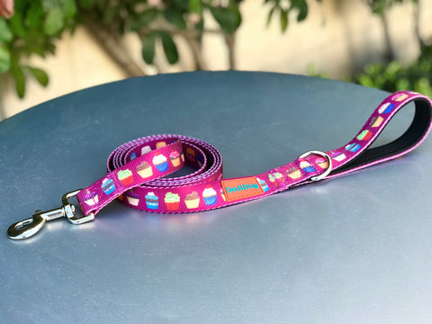 "NEW LIMITED EDITION! ""You Had Me At CUPCAKE"" Lightweight (6 foot) Pink Leash"