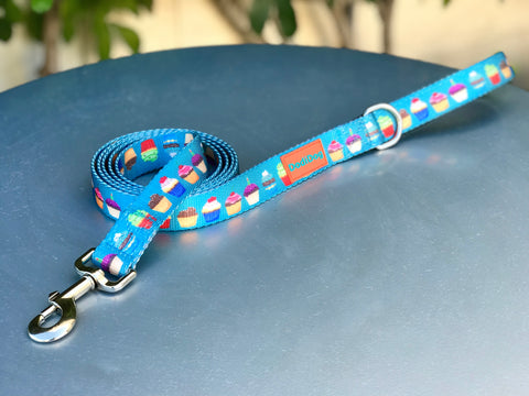 "NEW LIMITED EDITION! ""You Had Me At CUPCAKE"" Lightweight (6 foot) Blue Leash"