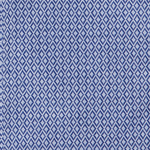 Non-Iron Knit Diamond - Blue