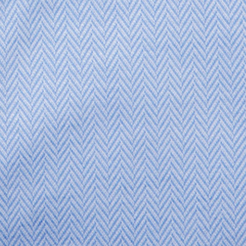 Non-Iron Knit Herringbone - Blue