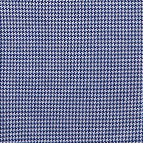 Non-Iron Knit Houndstooth - Navy