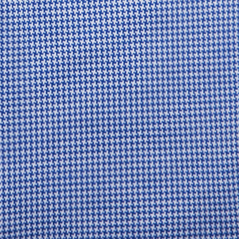 Non-Iron Knit Houndstooth - Blue