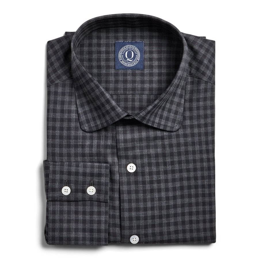Flannel Check - Charcoal