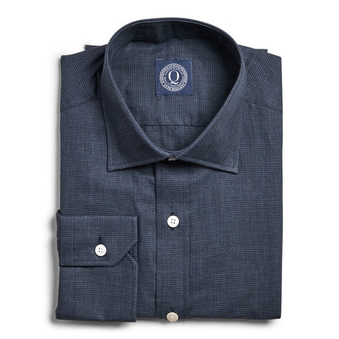 Flannel Suiting Check - Navy