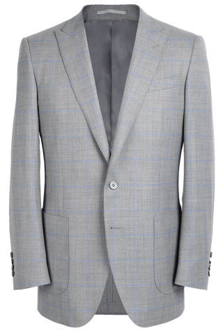The Arnold Jacket - Cavanni Grey/Blue Windowpane