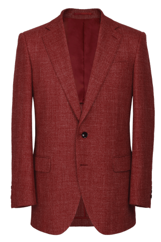 The Byron Jacket - Marzoni Pomegranate Hopsack