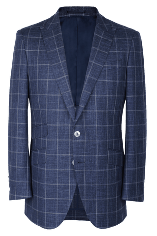 The Arnold Jacket - Marzoni Navy/Chalk Windowpane