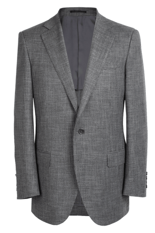 The Byron Jacket - Marzoni Charcoal Textured Dot