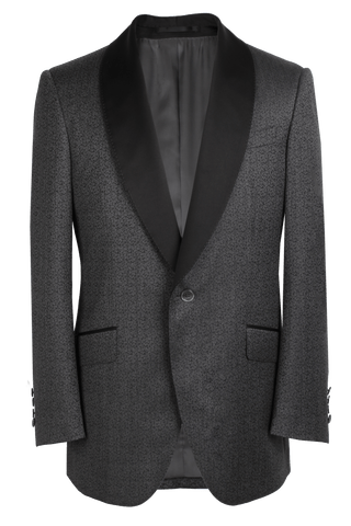 The Pierce Dinner Jacket - Marzoni Grey Paisley Jacquard