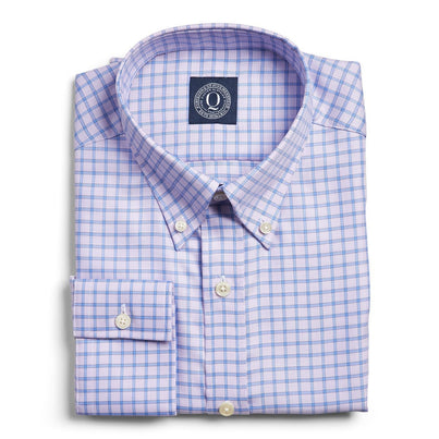 Stain Resistant Twill Check - Lavender