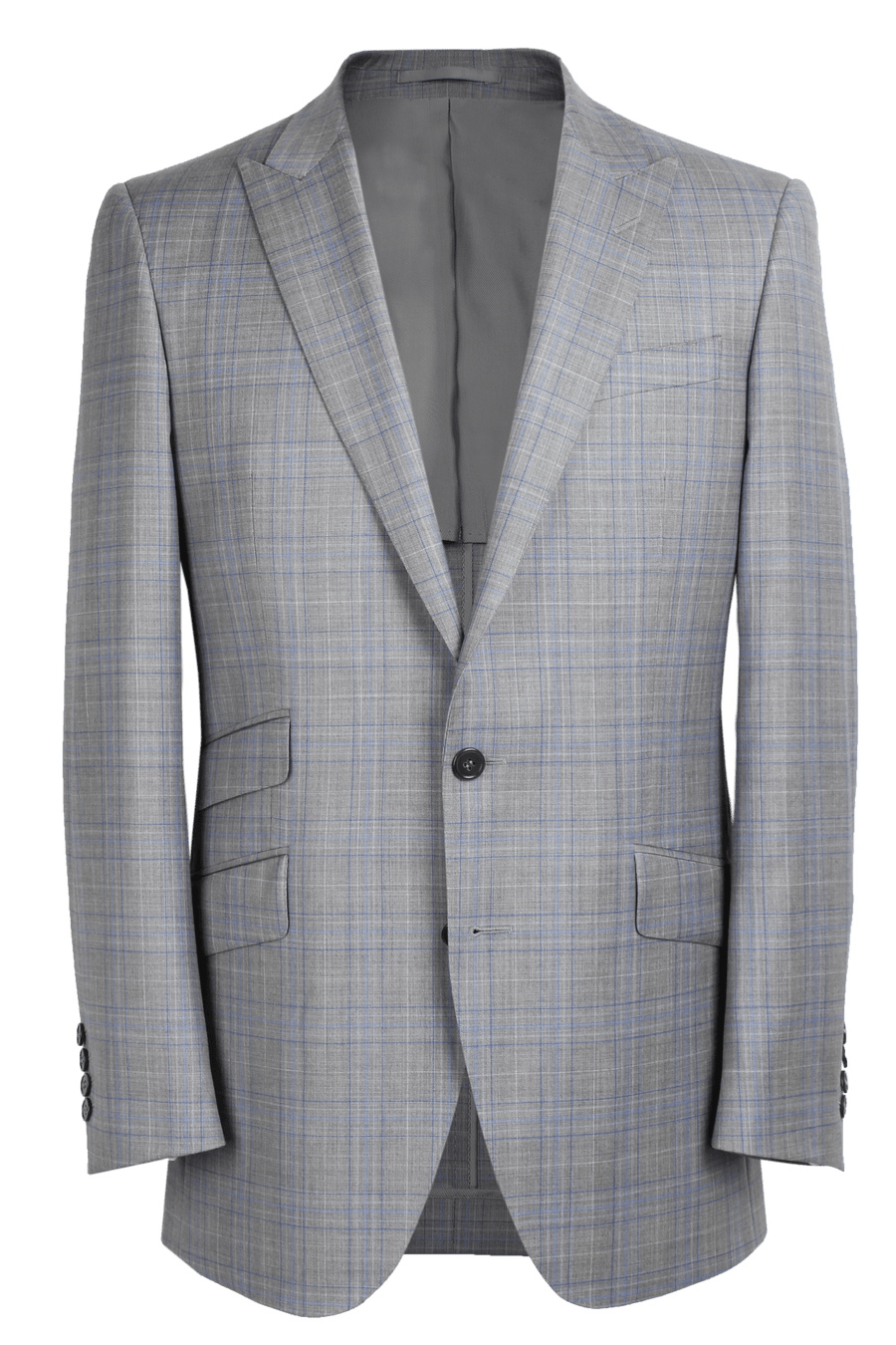 The Arnold Jacket - Cavanni Light Grey and Royal Glenn Plaid