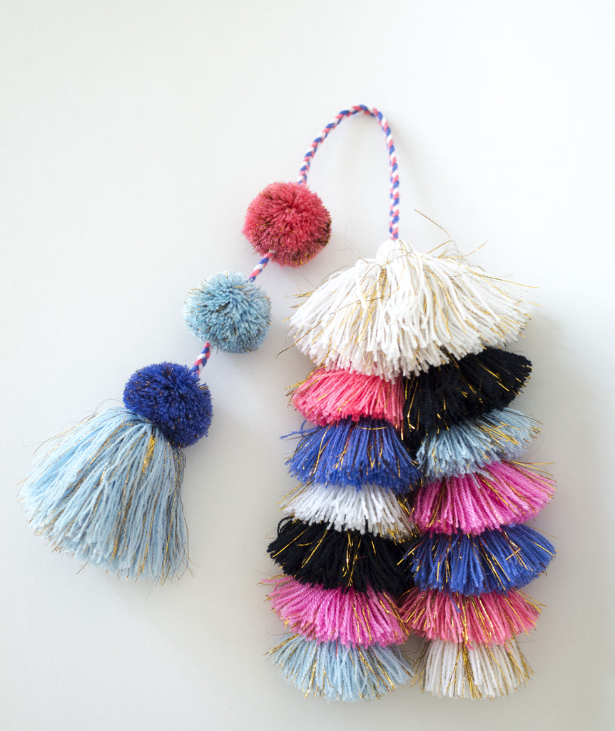 ray of sunshine tassels - cotton candy