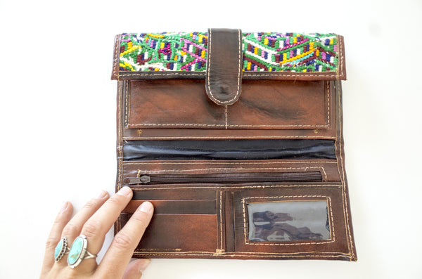 textile & leather wallet
