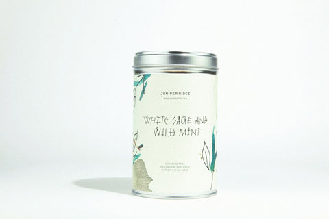 white sage + wild mint tea