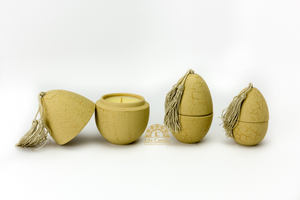 Scented Crackled Egg Candles Set of 3