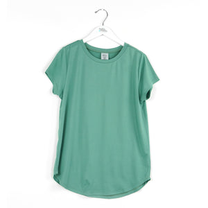 green, sage, crewneck tee shirt, super soft lounge top, every day wear