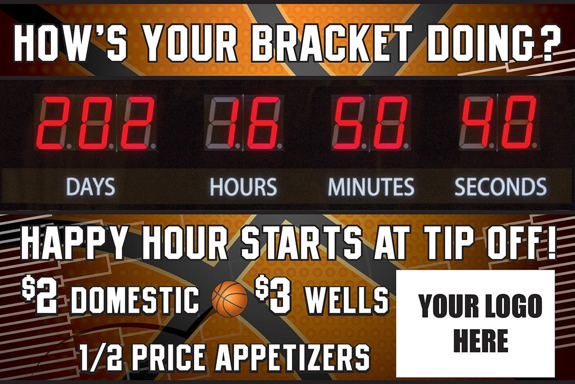 """How's Your Bracket Doing?"" Graphic Combo for Countdown Clock (slot for logo)"