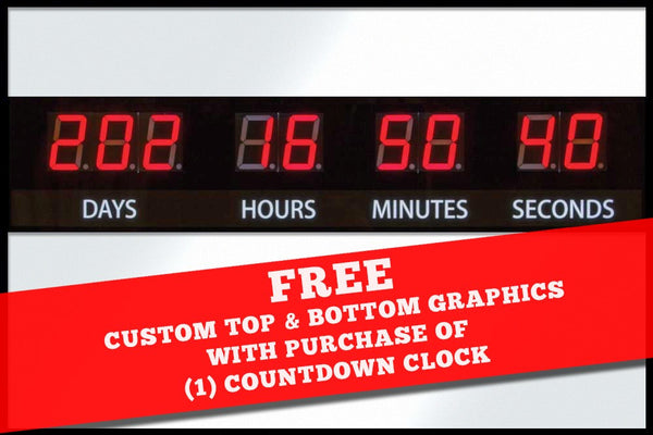 LED Customizable Countdown Clock (Upload your logo)