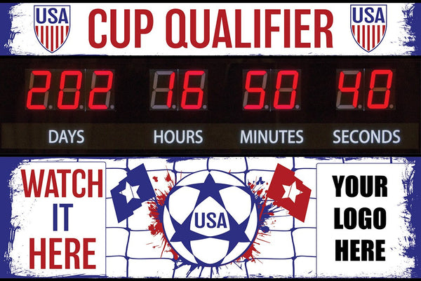 """Cup Qualifier"" Graphic Combo for Countdown Clock (slot for logo)"