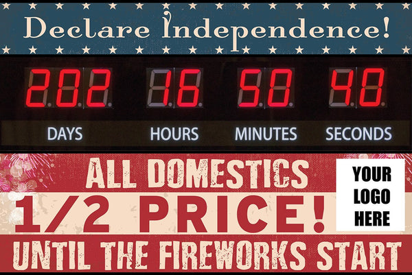 """Declare Independence"" Graphic Combo for Countdown Clock (slot for logo)"