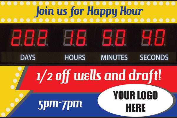 """Join Us for Happy Hour"" Graphic Combo for Countdown Clock (slot for logo)"