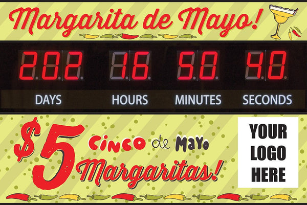 """Margarita de Mayo"" Graphic Combo for Countdown Clock (slot for logo)"
