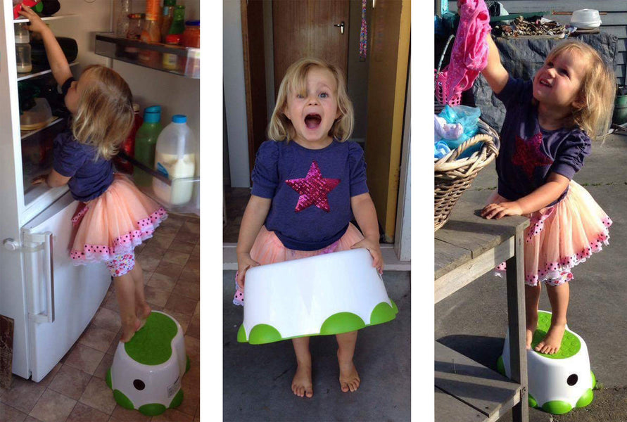 "'Best Step Stool Ever""! Tracey and her gorgeous daughter tell us what they love about their Bumbo Step Stool"