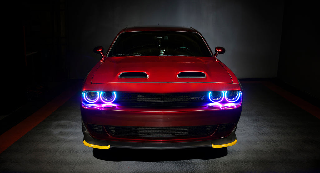 Oracle Lighting Launches Dodge Challenger Dynamic ColorSHIFT Headlight Halo Kits