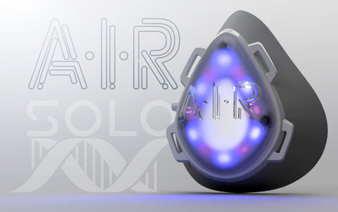 AIR Solo device illuminated with logo