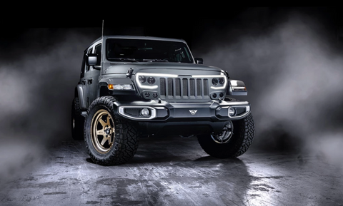 ORACLE Lighting's Vector Pro-Series Grill on a Jeep Wrangler