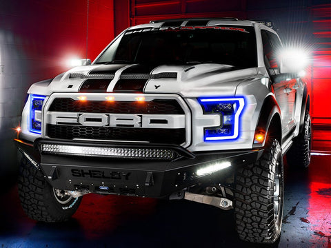 Aftermarket lights for trucks on a Ford Raptor