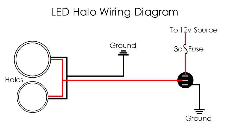 Halo Fog Lamp Wiring Diagram - Wiring Diagram Write Halo Fog Lights Wiring With Switch And Relay on