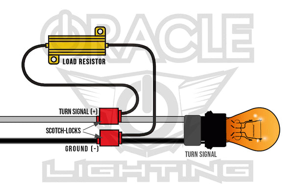 Load Resistor Turn Signal Installation Diagram